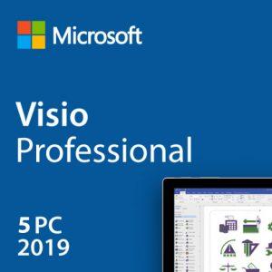 Microsoft Visio Professional 2019 License Product Key 5 PC