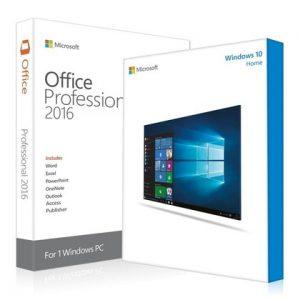 Microsoft Windows 10 Home + Office 2016 Professional Plus Key