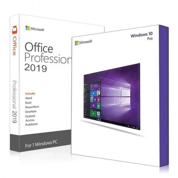 Microsoft Windows 10 Pro + Office 2019 Professional Plus Product Keys